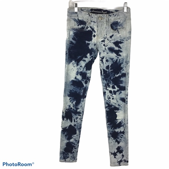 American Eagle Outfitters tie dye jeggings